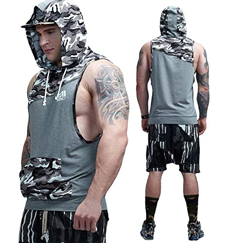 82a837fa445a8 AIMPACT Muscle Tank Tops Camo Athletic Workout Shirt Weightlifting  Bodybuilding Stringer Gym Sleeveless Hoodie Tank Top