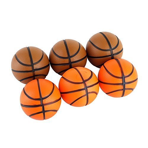 Mini Sports Stress Balls Basketballs Fun, 6-pack