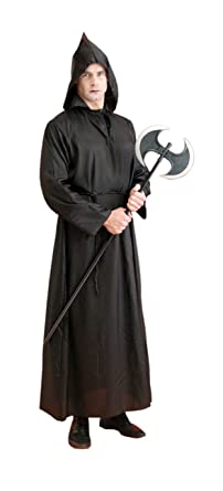 861f4d1605 Amazon.com  Monk Robe (black) Taffeta Deluxe Adult Halloween ...