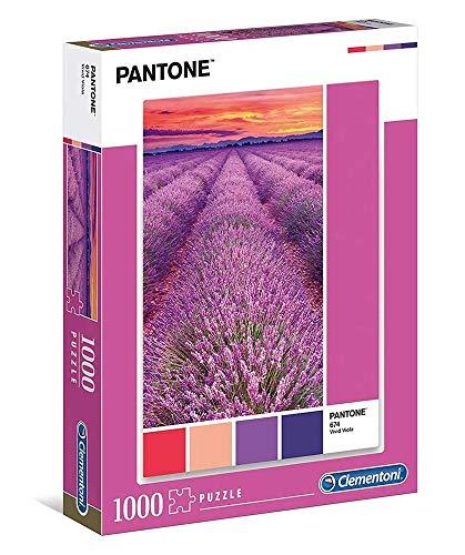 Clementoni- Puzzle 1000 pzas Pantone Viola, Multicolor (39493) , color/modelo surtido