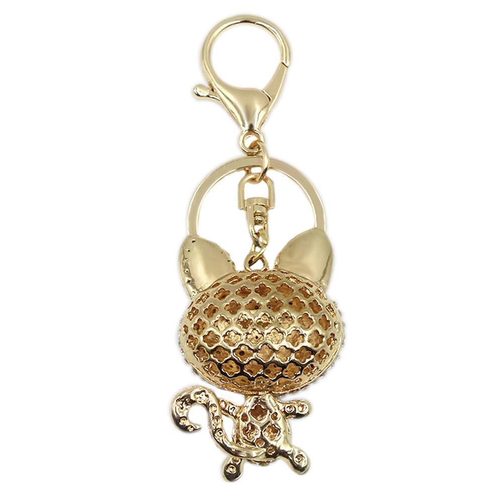 Cute Fox Rhinestone Keychain Bling Keyring Women Bag Purse Charm Pendant Gift by leomoste (Image #3)