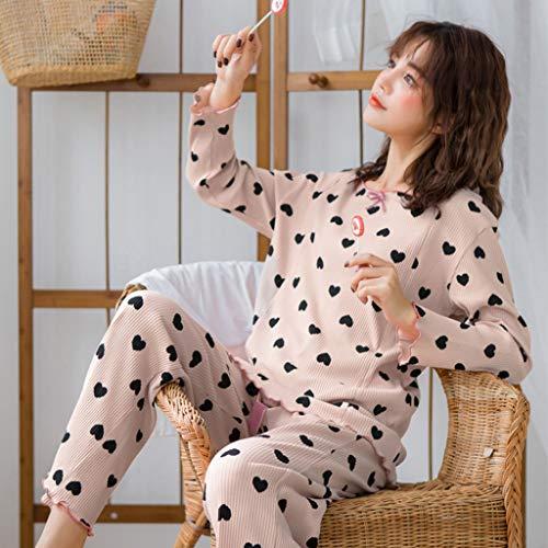 d561e87a6c5e Notte Gravidanza Pink Pigiami Stampa Pigiama Dolce Per Donna Incinta  Abbigliamento Maternità L allattamento Biancheria Camicie Sleepwear Cotone  ...