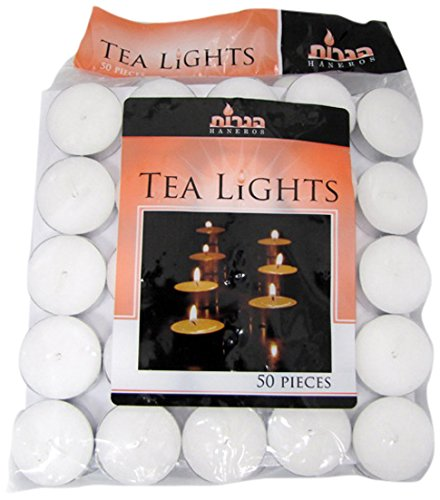 Blue Sky Tealight Candles, White, Unscented, Set of ()