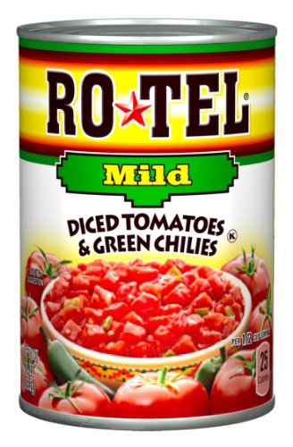 (Ro-Tel Mild Diced Tomato & Green Chilies, 10-Ounce Cans (Pack of 12))