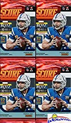 Wowzzer! Super Hot! Brand New! This Product Features the First officially NFL licensed Rookie Cards from the Amazing Loaded 2019 NFL Rookie Class! We are Proud to offer this 2018 Score NFL Football Collection of FOUR(4) Awesome Factory Sealed Retail ...