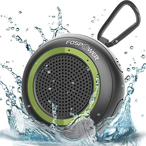 Waterproof Bluetooth Speaker IPX7, FosPower Outdoor Portable Shower Wireless Speakers with 10 Hours Playtime, HD Audio, Enhanced Bass, Built-in Mic, Bluetooth 4.2, TWS Mode and TF Card Slot]()