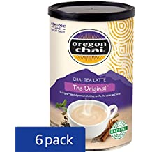 Oregon Chai Original Chai Tea Latte Powdered Mix 10-Ounce Containers (Pack of 6), Powdered Spiced Black Tea Latte Mix For Home Use, Café, Food Service