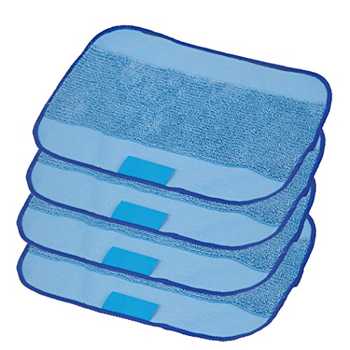4-pack Wet Microfiber Mopping Cloths Washable&Reusable Mop Pads , Hongfa Replacement for iRobot Braava 380 380t 320 321 Mint 4200 4205 5200 5200C Robot