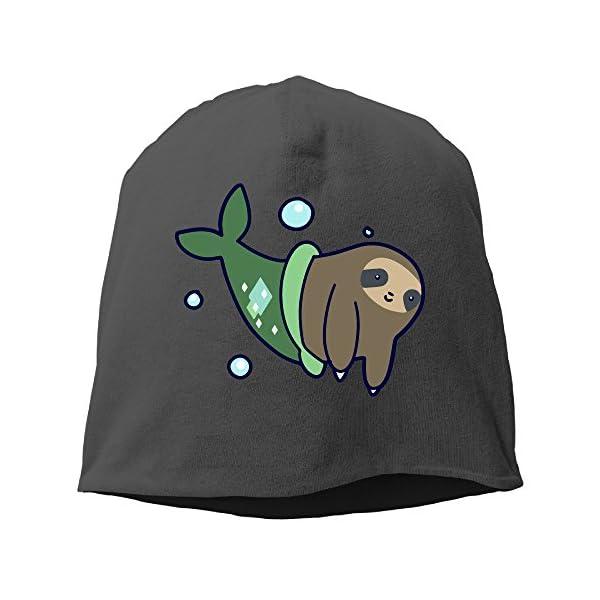 Funny Cute Mermaid Sloth Beanies Cap For Men Women (5 Colors) -