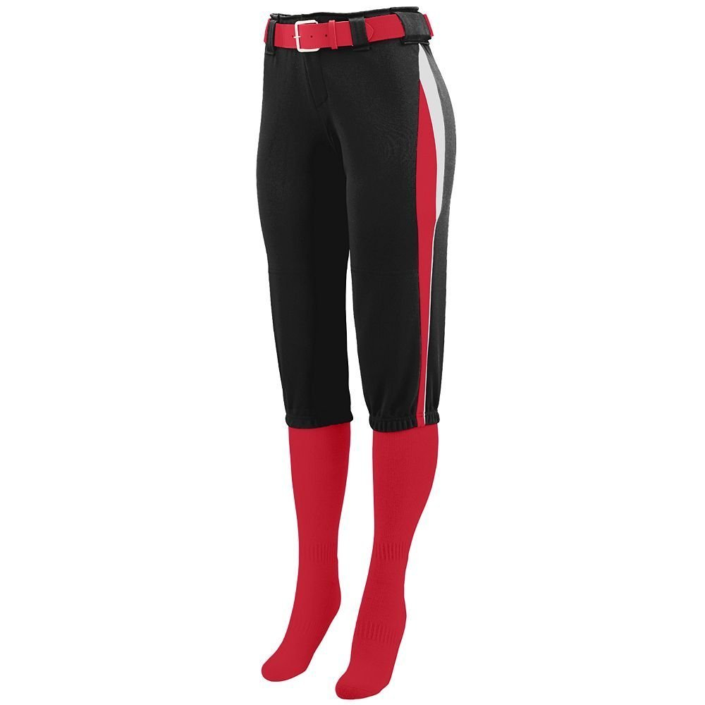 Augusta Sportswear Girls ' Cometソフトボールパンツ B00IUJ1FSY Small|ブラック/レッド/ホワイト ブラック/レッド/ホワイト Small