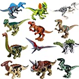 3 3 4 action figure display case - STSTECH Mini Dinosaur Toy Playset,DIY Dinos Building Block Action Figures,Educational Gift for Kids(Pack of 12)