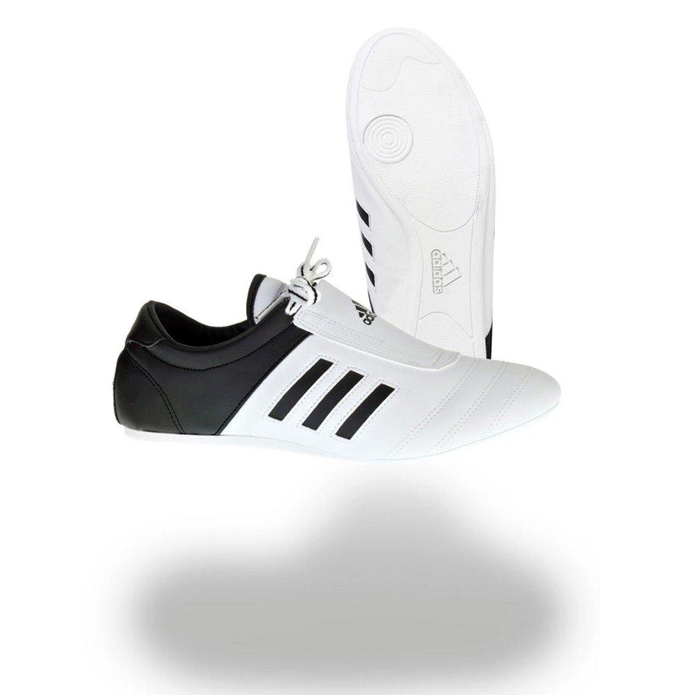 les arts martiaux de baskets adidas à coups de souliers (8) blancs à rayures noires (8) souliers 39a6d1