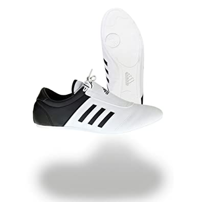 293cb838188 Amazon.com  adidas KICK Shoes Martial Arts Sneaker White with Black ...