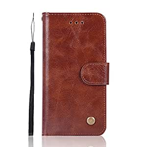 Wholesale iPhone 6/6S Leather Case, [50 PCS/Lot] 6 Colors Mixed / Retro Flip PU Leather Case Cover Card Slot Stand Function String with 1 Vfunn Branded Pen (Dark Brown)
