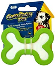 JW Pet Company Good Breath Bone Dog Toy, Small, Colors Vary