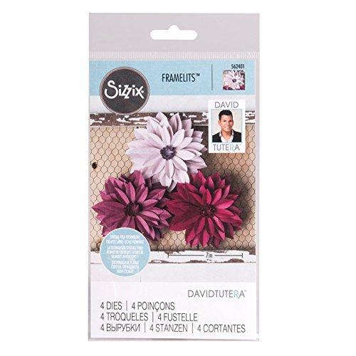 (Sizzix Framelits DAHLIA Flower 4 Dies #562401)
