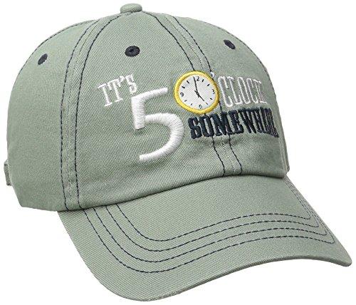 Logo Cap Olive - Margaritaville Men's Five O'clock Logo Hat, Olive, One Size