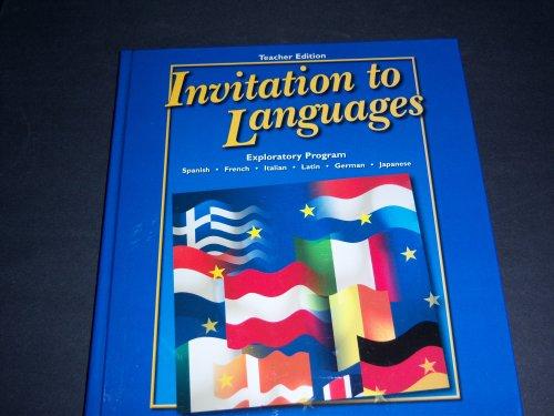 Invitation to Languages; Exploratory Program TEACHER EDITION (Hardcover) - Conrad J. Schmitt