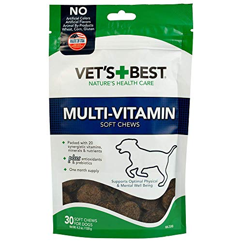 Vet's Best Multi-Vitamin Soft Chew Dog Supplements | Vitamins for Dogs | Supports Dogs Physical and Mental Health | 30 Day Supply