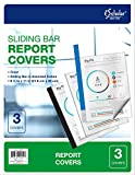 iScholar Sliding Bar Report Covers, 8-1/2 x 11'', 3 Pack, Clear (30603)