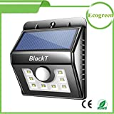 Blackt Electrotech Solar Lights 8 Led Wireless Waterproof Motion Sensor Outdoor Light For Patio, Deck, Yard, Garden With Motion Activated Auto On/Off