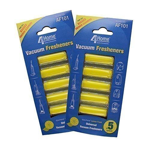 4YourHome Bâtonnet désodorisant pour aspirateurs - citron frais - double paquet (10 bâtonnets)