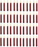 Darice 6205-18 2 pk Battery 6'' Flicker Flame Burgundy Taper LED Candles w/ Auto Timer - Quantity 24