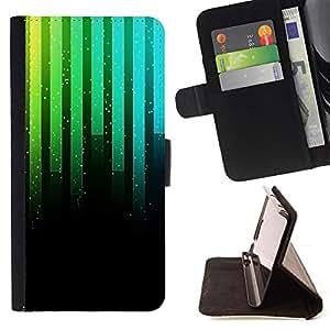 - Music Synthesizer Neon - - Monedero PU titular de la tarjeta de cr????dito de cuero cubierta de la caja de la bolsa FOR Samsung Galaxy S6 EDGE RetroCandy