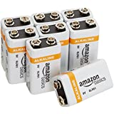 AmazonBasics 9 Volt Everyday Alkaline Batteries, 8 Count
