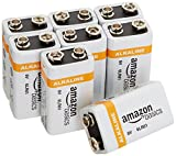 #9: AmazonBasics 9 Volt Everyday Alkaline Batteries (8-Pack)