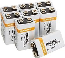 AmazonBasics Lot de 8 piles alcalines 9V