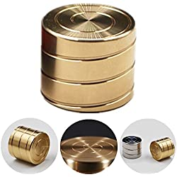 Runfish Vortecon Kinetic Desk Toy Adult EDC Spinning Toy Anxiety Relief Stress Reliever- Optical Illusion and Hypnotic Optical Illusion Continuously Flowing Helix Shaped, BRASS