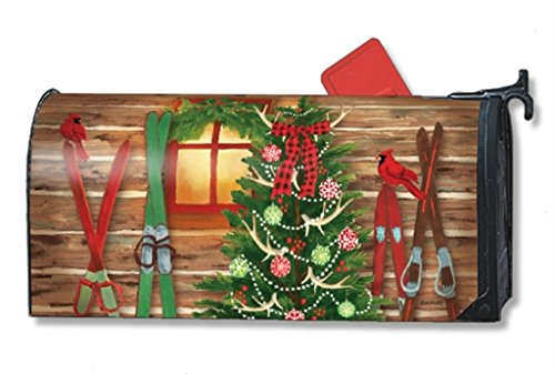 MailWraps Christmas at the Cabin MailWrap Mailbox Cover 00124