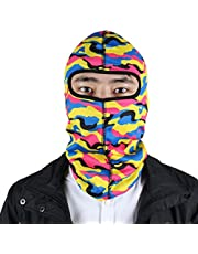 uxcell Lycra Unisex Outdoor Camouflage Style Balaclava Full Face Hat Cap Hood Colorful