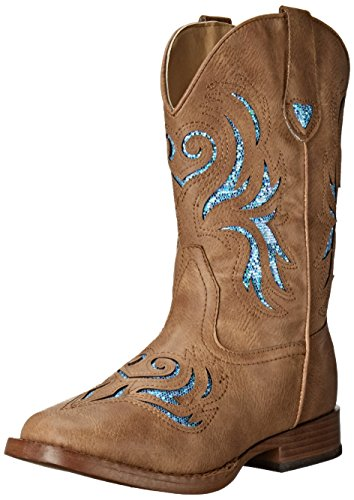 Roper Glitter Breeze Western Boot (Toddler/Little Kid), Tan, 12 M US Little Kid