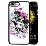 Case for iPhone 7 Plus 8 Plus case Mexican Candy Skull Girl Slim Soft and Hard Tire Shockproof Protective Phone Cover Case Slim Hybrid Shockproof Protective Case Anti-Scratch Cushion Bumper with Reinf