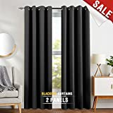 Best Home Fashion Thermal Insulated Blackout Curtains 84s - Blackout Curtains for Bedroom 84 inches Long Window Review