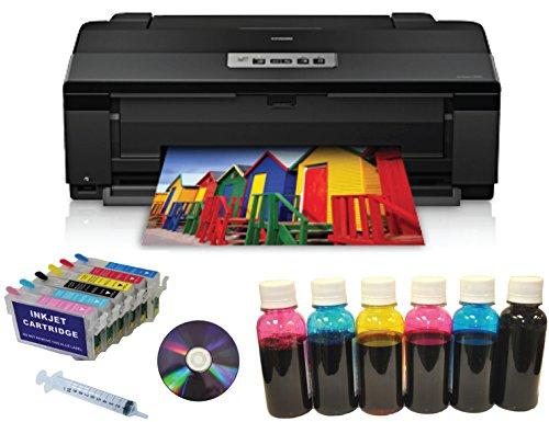 Epson Artisan 1430 Wireless 13x19 Printer+Refill Ink Cartridges+600ml Dye Ink Bundle