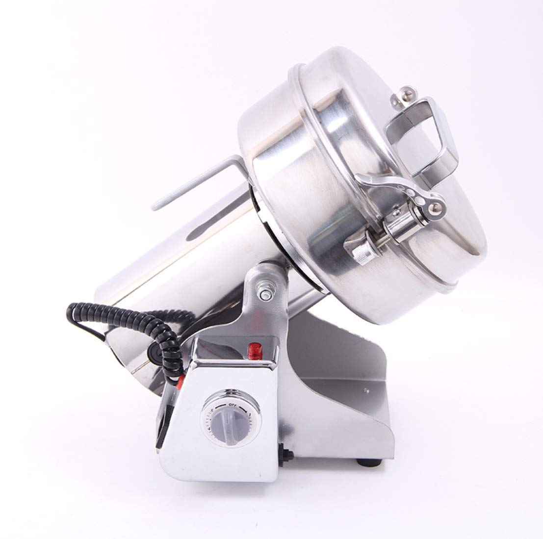 RRH Swing Type Stainless Steel Grain Grinder 750g Powder Machine 2300W Commercial Electric Grain Mill for Pill Hurb Corn Spice Nut and Coffee