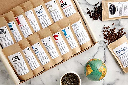 Bean Box World Coffee Tour Gourmet Sampler - (16 roasts, specialty whole bean coffees around the world, coffee gift box)