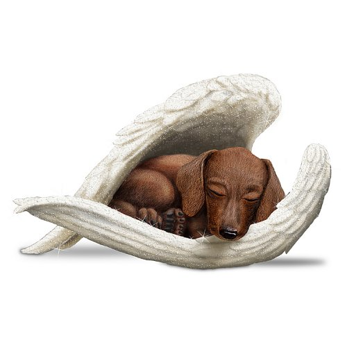 The Hamilton Collection Blake Jensen Dachshunds Leave Paw Prints On Our Hearts Figurine