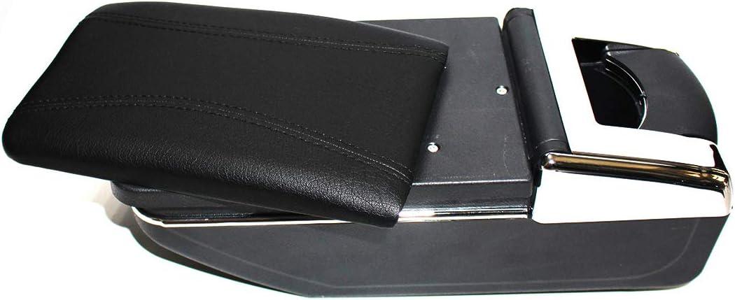 b,seule couche - tout noir Pour Captur Kaptur 2014-2018 Accoudoirs Bo/îte Consoles main avec porte gobelets et cendrier