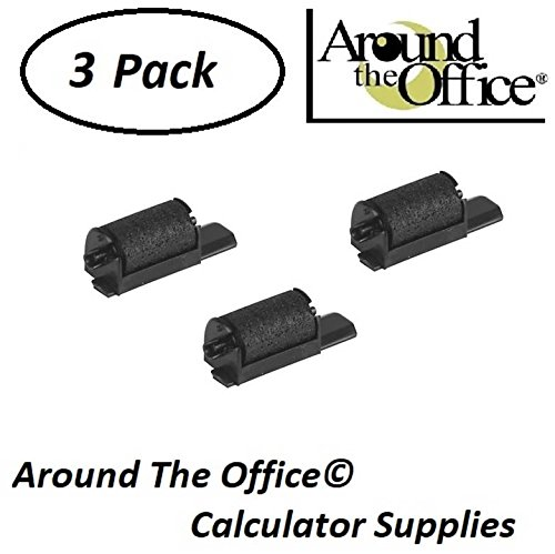 Around The Office Compatible Package of 3 Individually Sealed Ink Rolls Replacement for Casio HR-8-TM Calculator (Sealed Roll)