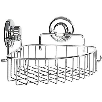 Hasko accessories corner shower caddy with - Bathroom corner caddy stainless steel ...