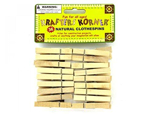 krafters korner Natural Wood Craft Clothespins - Set of 72, [Crafts, Craft Clothespins] by krafters korner (Image #1)