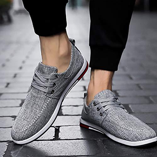 di uomo tela uomo denim tela scarpe tendenza Black Gray Size 44 da casual scarpe Scarpe da estiva Color scarpe WangKuanHome di selvaggia 5AO8q