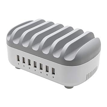 Cargador USB NTONPOWER, Cargador Universal de 7 Puertos para ...