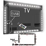 TOP-MAX Waterproof LED Strip 5V Colour Changing RGB 5050 RF Remote Control TV PC Back Mood Light Lighting USB Connection(2x40cm+2x60cm)