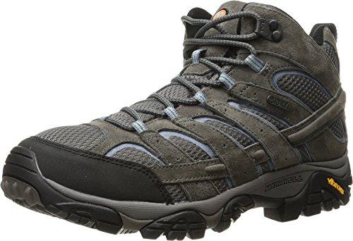 Merrell Women's Moab 2 Mid Waterproof Hiking Boot, Granite, 8 M US (Merrell Moab Gore Tex Waterproof Walking Shoes)