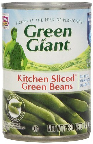 Green Giant Kitchen Sliced Green Beans 14.5 Oz (Pack of 6)